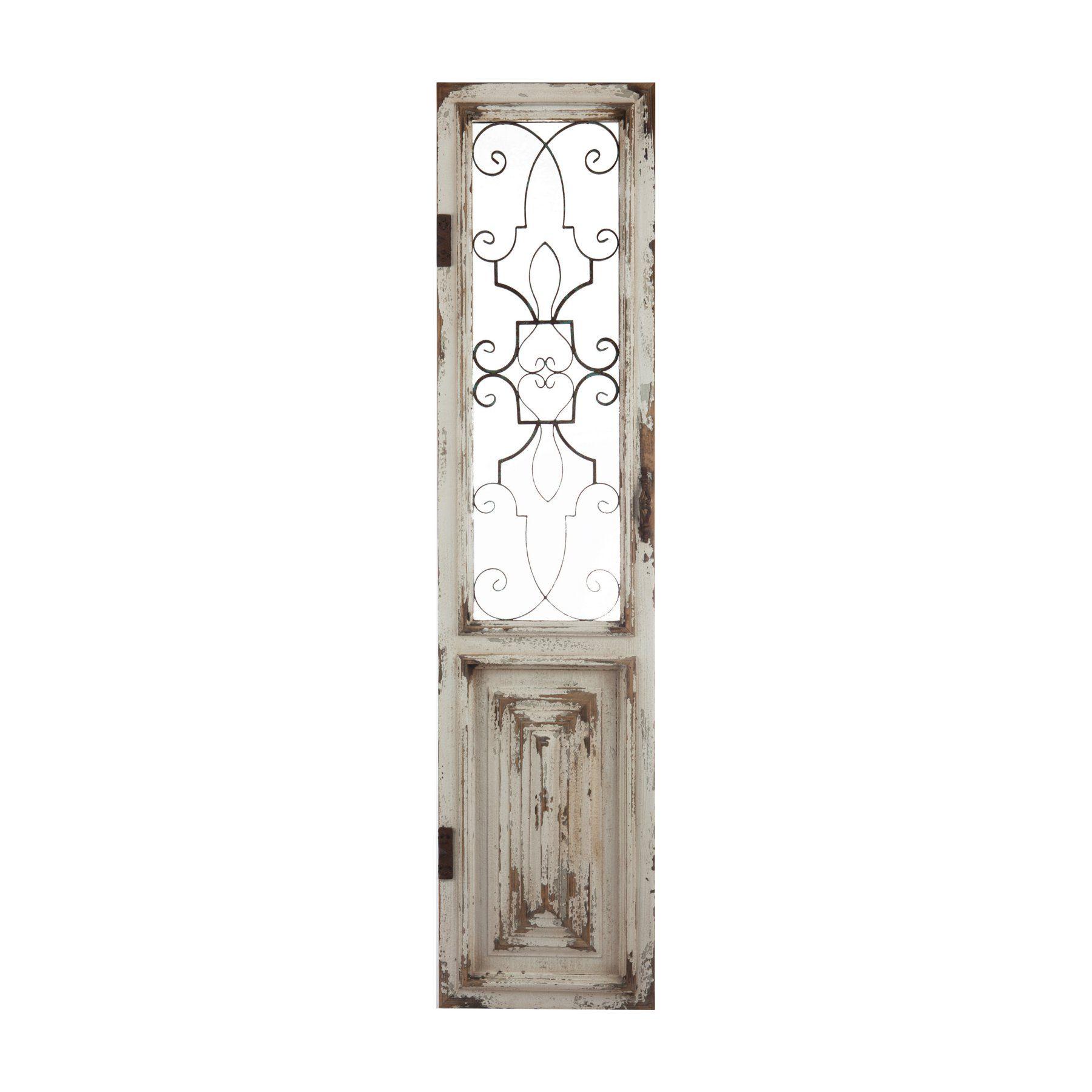 A B Home Chalet Decorative Door Panel Doors Wood Metal Decor