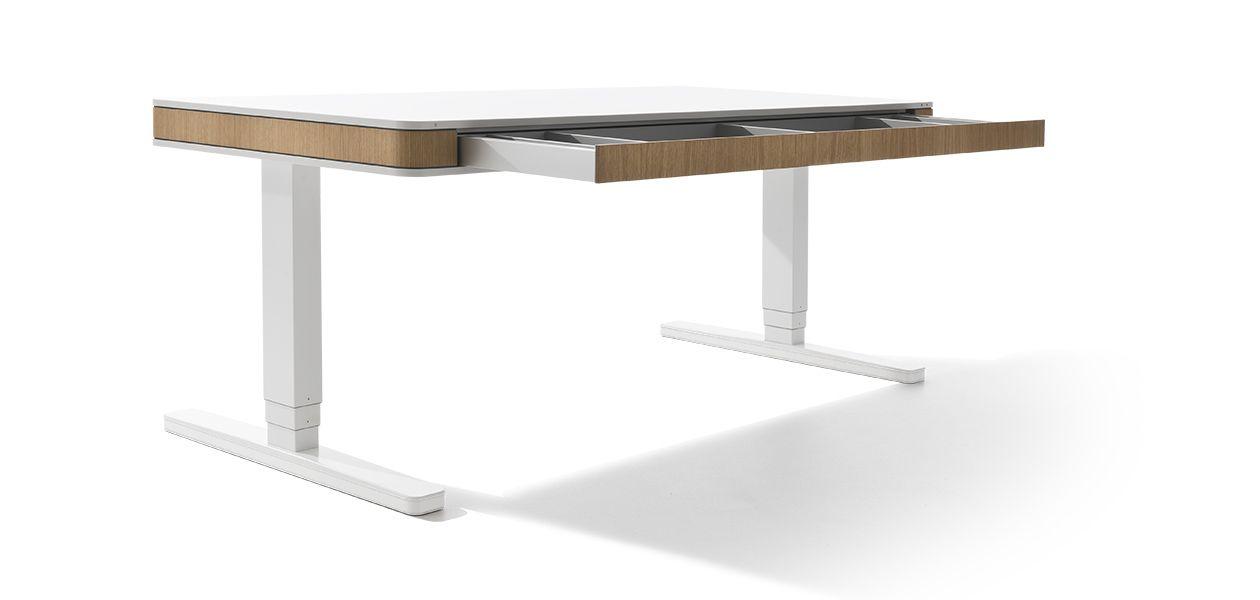 Moll Unique Elektrisch Hoehenverstellbarer Schreibtisch T7 Xl 45grad Eiche Schublade Offen Hohenverstellbarer Schreibtisch Schreibtisch Tisch Hohenverstellbar