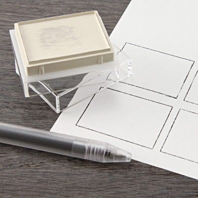 Acrylic Stamp for Frame  http://www.muji.us/store/stationery/fun-stationery/acrylic-stamp-for-frame.html