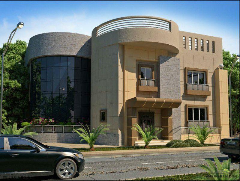 تصميم ديكورات خارجية للقصور و الفلل و الاستراحات بارقى الافكار الرائعة Facade House House Front Design Villa Design