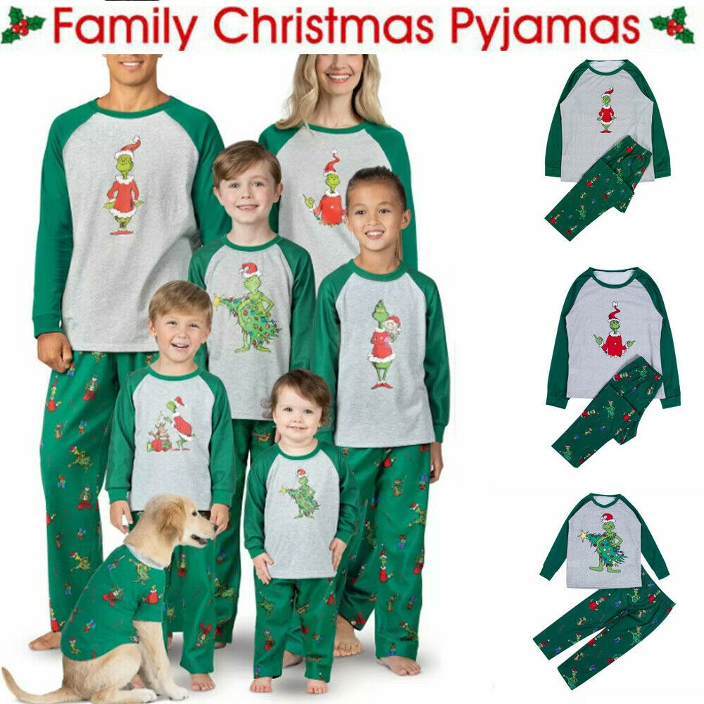 Details about Family Matching Christmas Pajamas Set Women