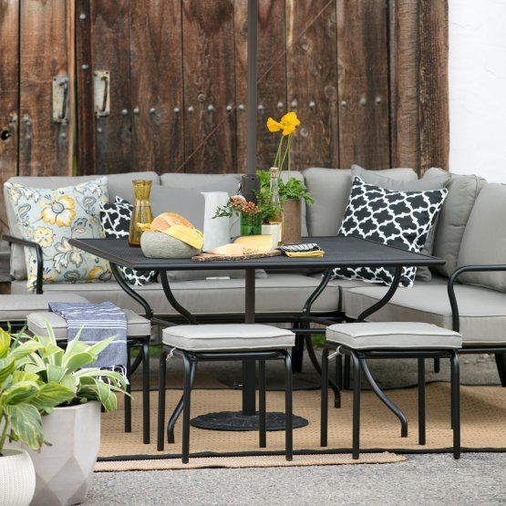 Excellent Belham Living Parkville Metal Sofa Sectional Patio Dining Camellatalisay Diy Chair Ideas Camellatalisaycom