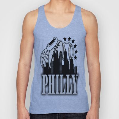 Philly Home Teams  Unisex Tank Top by Robleedesigns - $22.00
