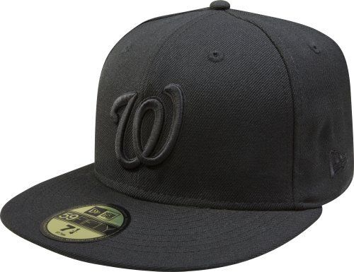 d6061167dc3 MLB Washington Nationals Black with Black Home Logo 59FIFTY Fitted Cap by New  Era.  26.99