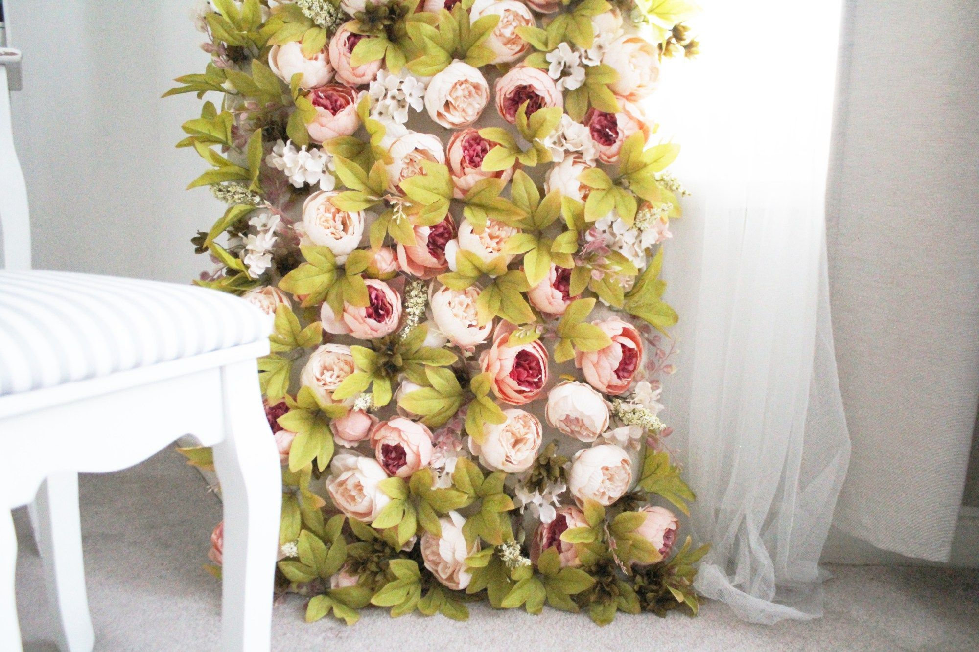 How to make a flower wall , PINK FLOWER WALL | decoracion ...