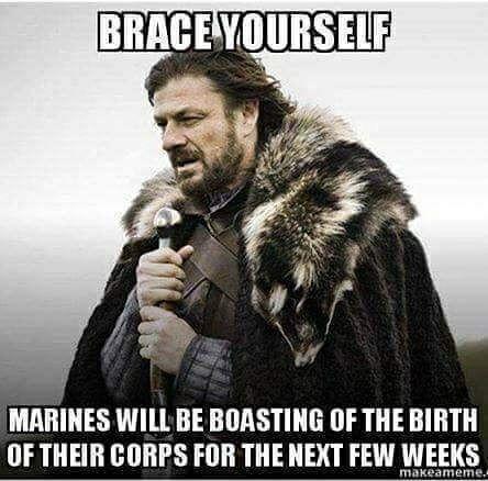Marine Corps Birthday Game Of Thrones Meme Pharmacy Humor Brace Yourself