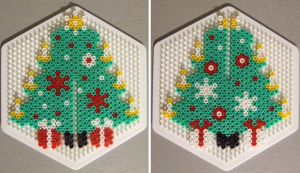 3D Christmas Tree Pattern Hama Perler By Les Mercredis De