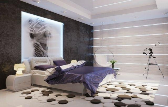 Wandfarbe Schlafzimmer eingebaute LED Leuchten Home Pinterest - wandfarbe im schlafzimmer