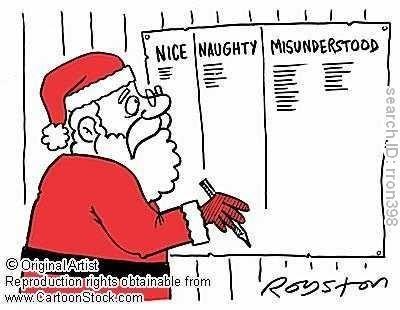 Chriatmas Humor   Santa Checking His List Have you been naughty, nice, or  just. Funny ChristmasWinter ...