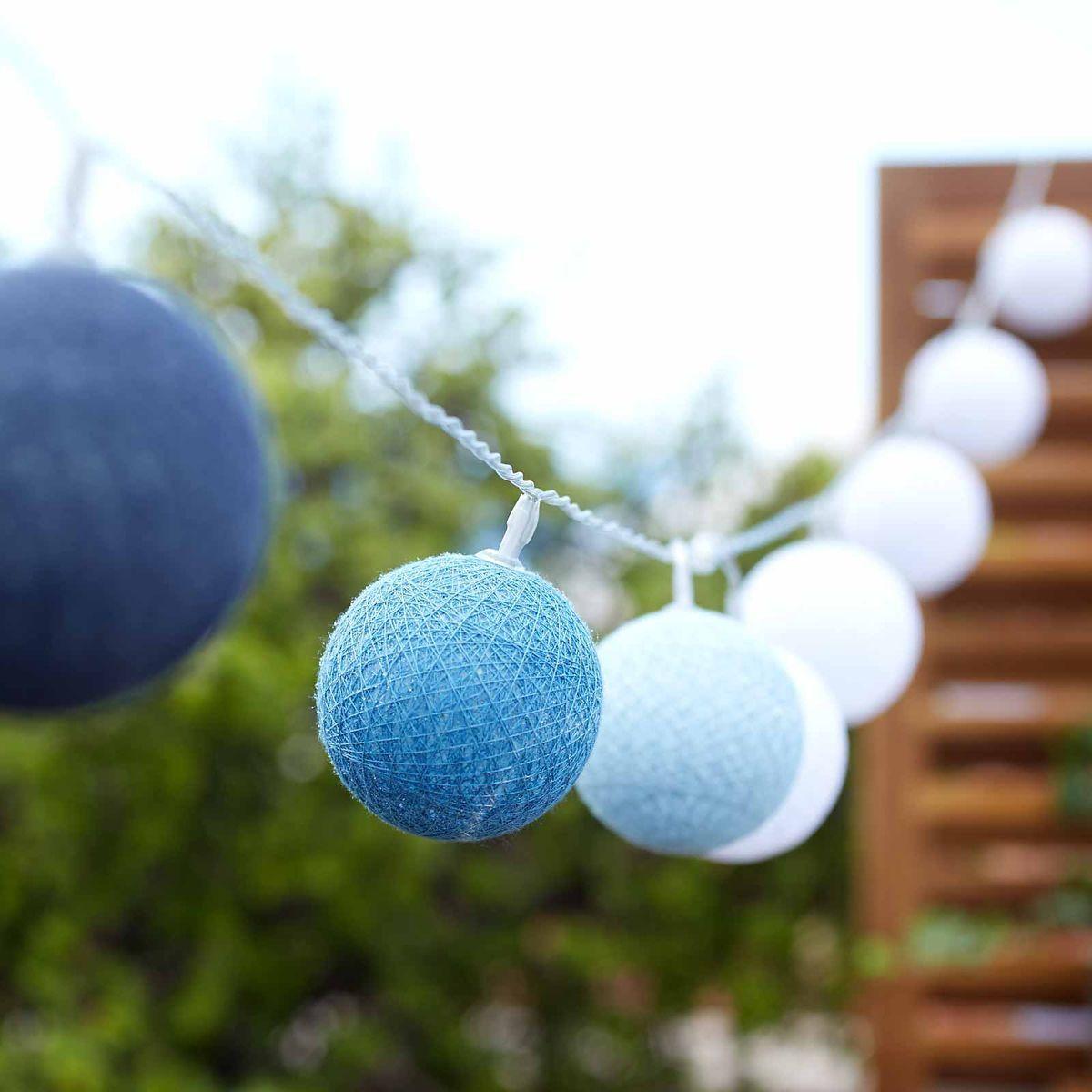 lichterkette solar outdoor 10 leds blau ca l 180 cm f r. Black Bedroom Furniture Sets. Home Design Ideas