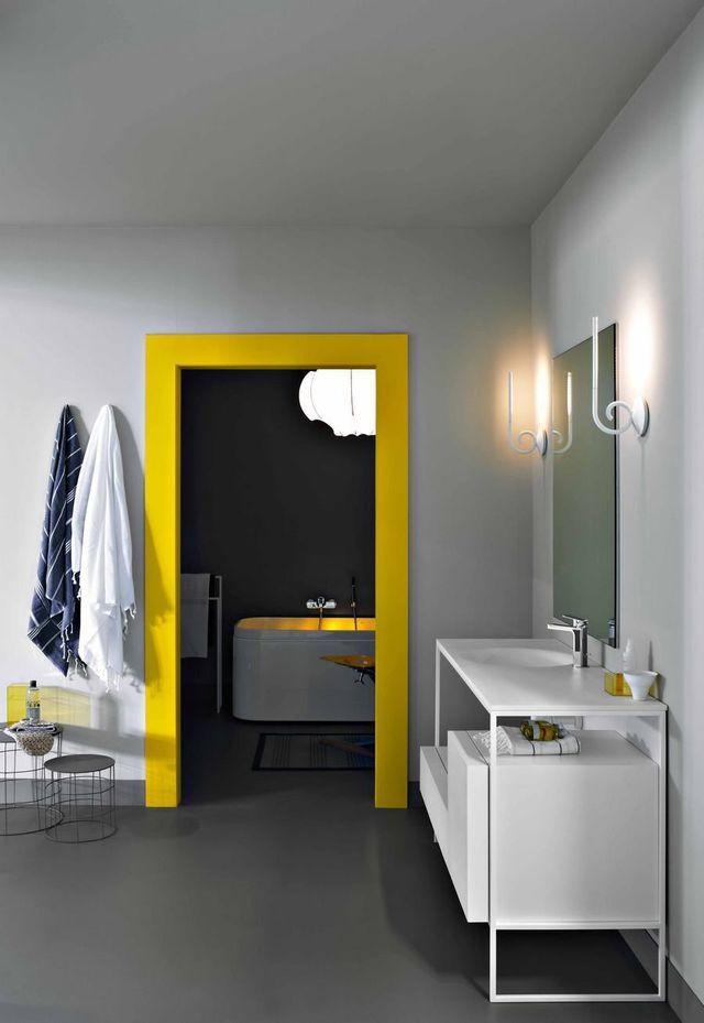 Peinture porte intérieure  10 idées relooking Salons - peinture beton cire mur
