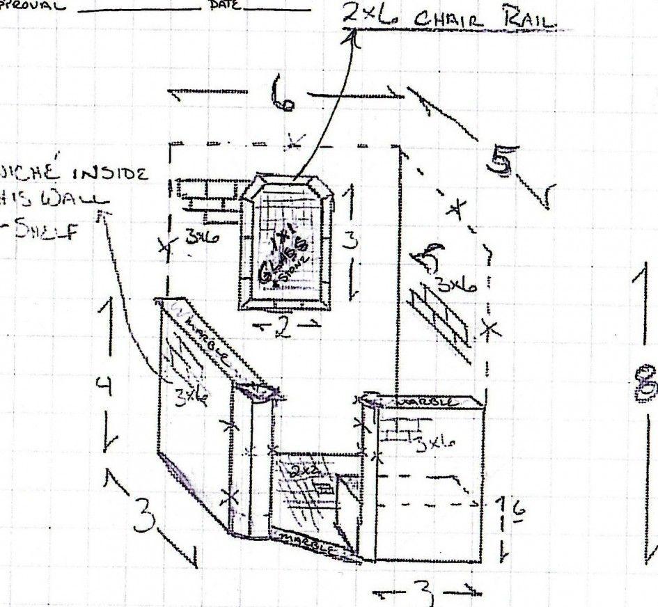 Doorless Shower Floor Plans