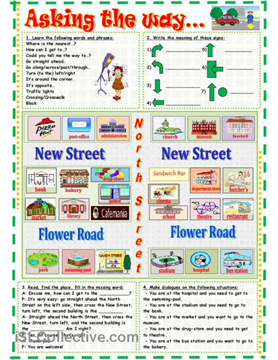 Asking the way... worksheet - Free ESL printable worksheets made by ...