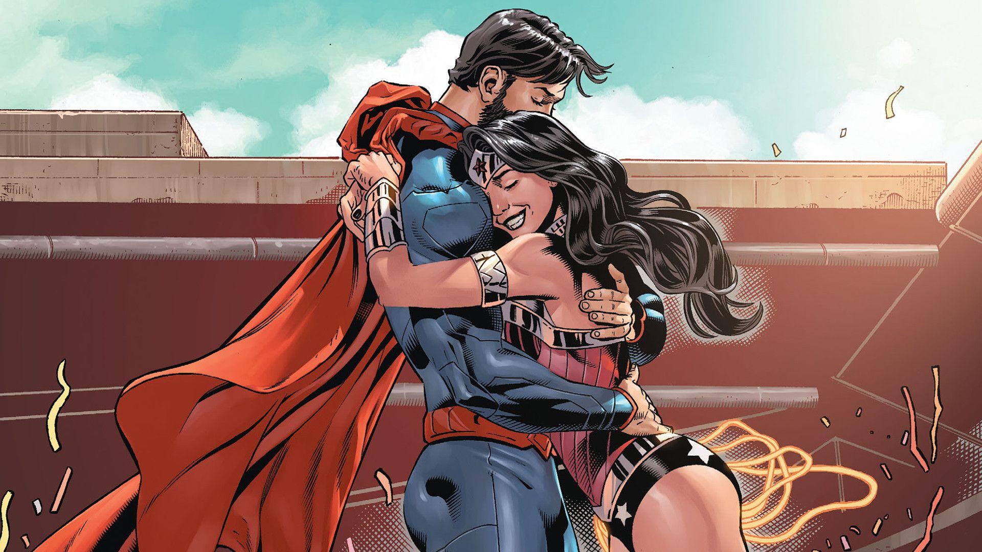 Superman Wonder Woman Computer Wallpapers Desktop Backgrounds 1920x1080 Id 567778 Superman Wonder Woman Wonder Woman Comic Wonder Woman