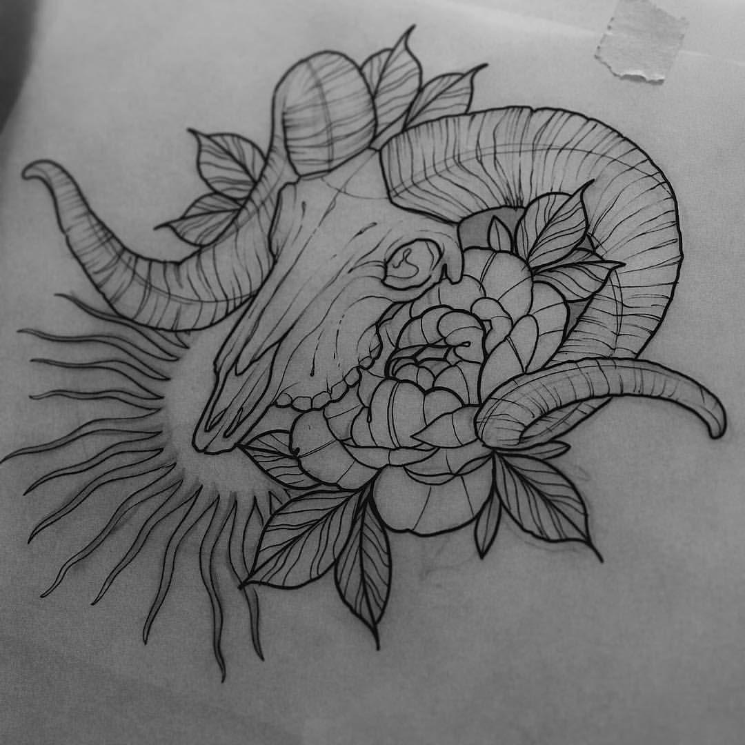 Always Drawing Bones Neotraditionaltattoo Neotraditional Neotrad Bones Ramskull Ramskulltattoo Tattoofla Deer Tattoo Designs Tattoo Themes Autumn Tattoo