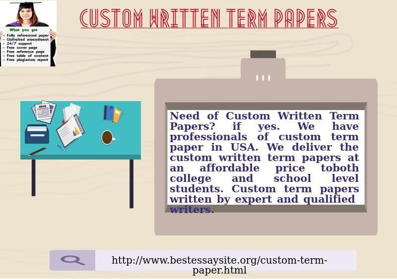 Custom written papers online