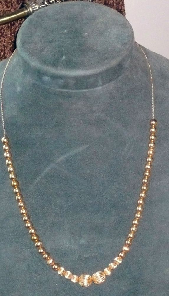Vintage 14kt Gold Add A Bead Necklace Quot Stunning Quot Bead
