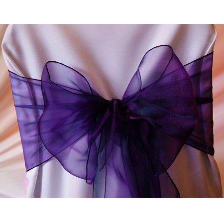 mds pack of 150 organza chair sashes bow sash for wedding and events