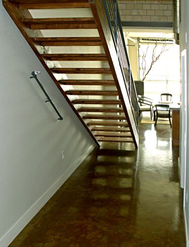 Staircase With No Risers   Like The Wood   Add Plexiglass For Risers?