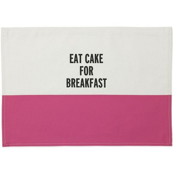 Kate Spade New York Eat Cake For Breakfast Placemat In Hot Pink 16