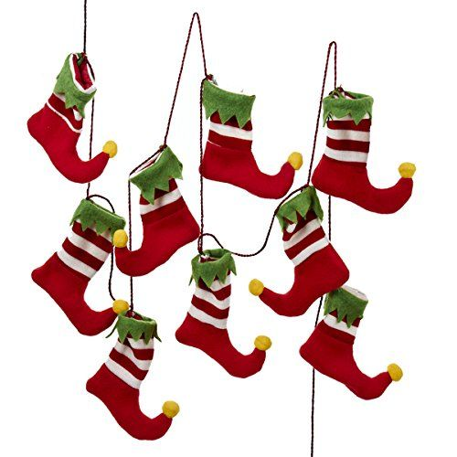 6' Red, White and Green Santa's Workshop Elf Stocking Christmas Garland Kurt Adler http://www.amazon.com/dp/B015X45X0Y/ref=cm_sw_r_pi_dp_0l6rwb0JJ8QD9