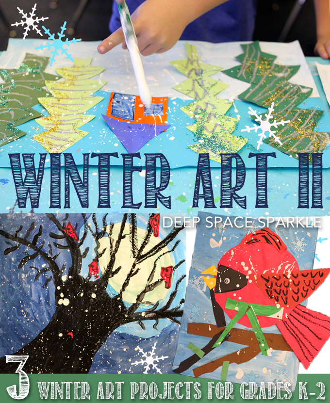 Winter Art Projects for Grades K-2 | Winter Art Lessons