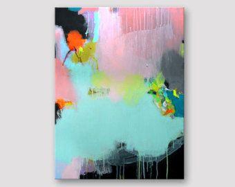 Original Abstrakte Malerei Auf Leinwandgestreckt Abstrakte Kunst