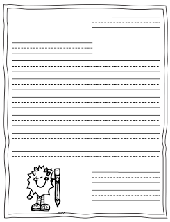 Delightful Kindergarten Letter Writing Template