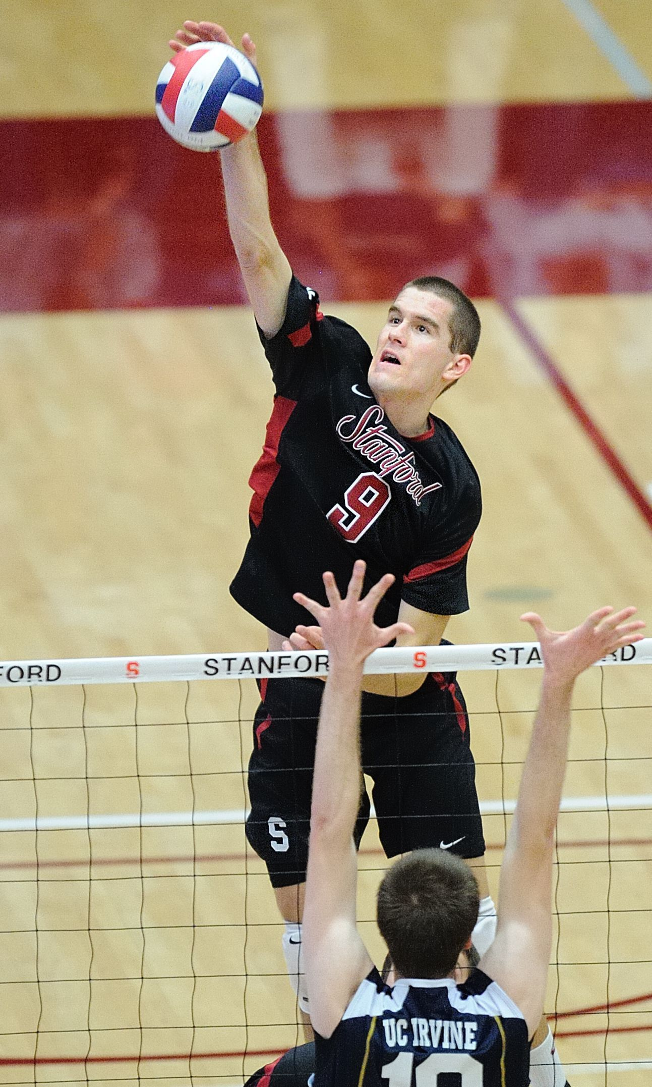 Are you hitting a volleyball as hard as you can