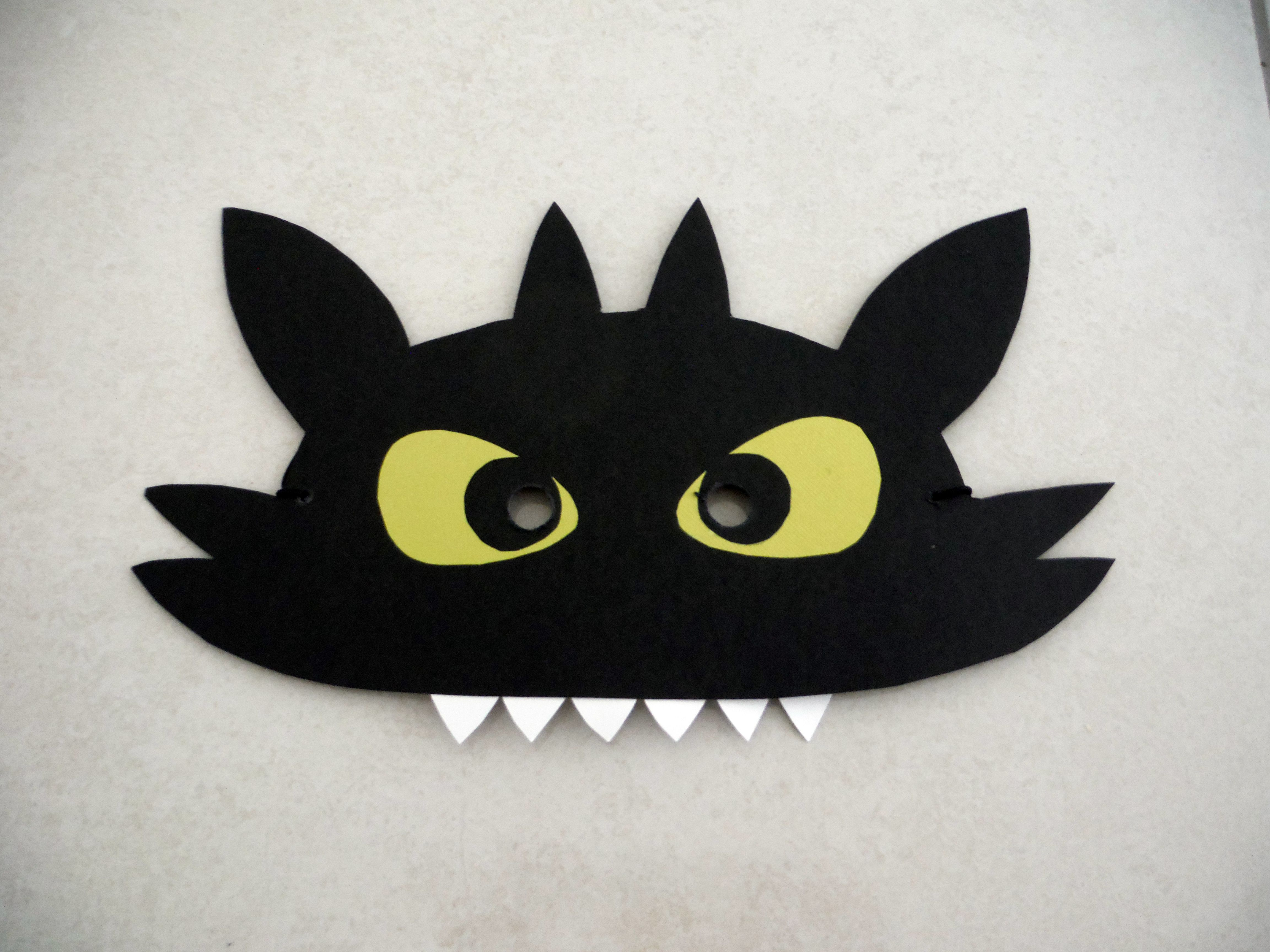 Toothless How To Train Your Dragon Mask For Book Week