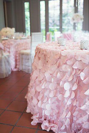 Blush Pink Petal Tablecloth Blush Pink Circle Petal By Wedsource