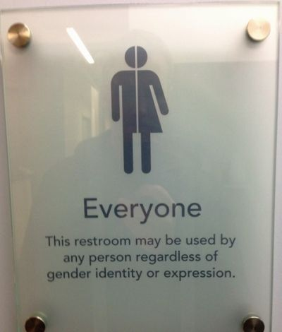 Bathroom Signs Transgender this doctor's bathroom sign welcomes everyone | equality, bathroom