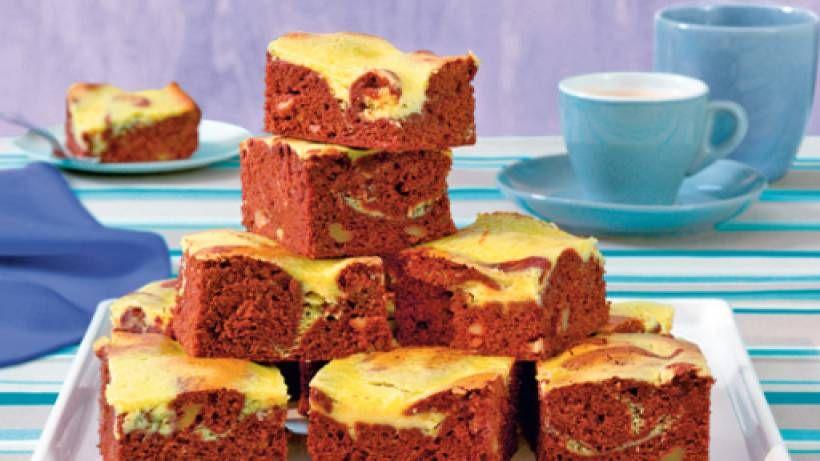Brownies mit Strähnchen