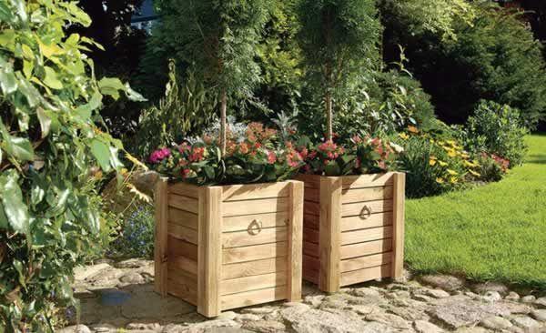 Diy Wooden Flower Pot Woodenflowerboxes Diy Woode In 2020 Holzblumen Pflanzkubel Pflanzen