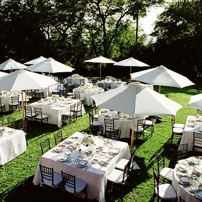 The Mixture Of Round And Square Tables AND Umbrellas! Exactly What Weu0027re  Going