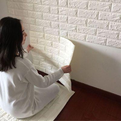New 3d Foam Stone Brick Self Adhesive Wallpaper Diy Wall Sticker Panels Decal Home Decor Home Home Diy