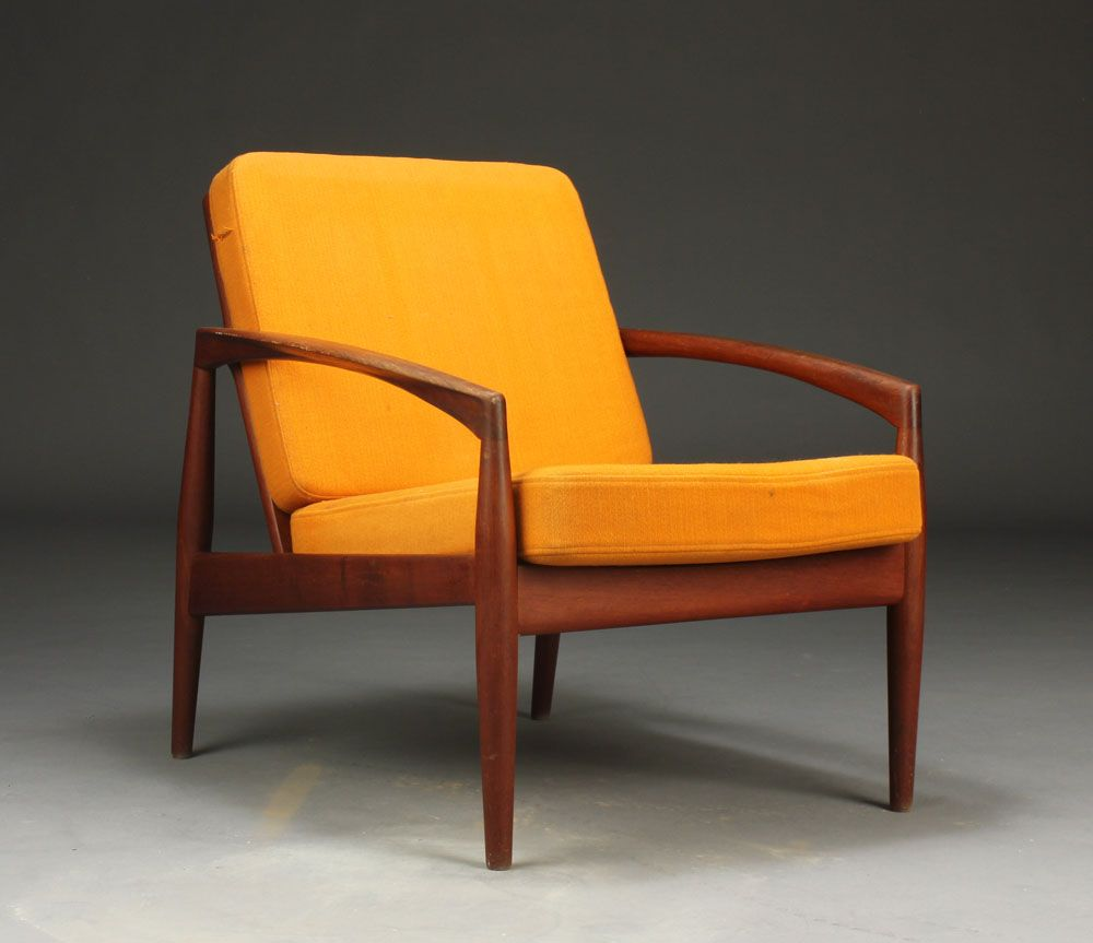 Kai Kristiansen Armchair With Teak Loose Cushions Upholstered