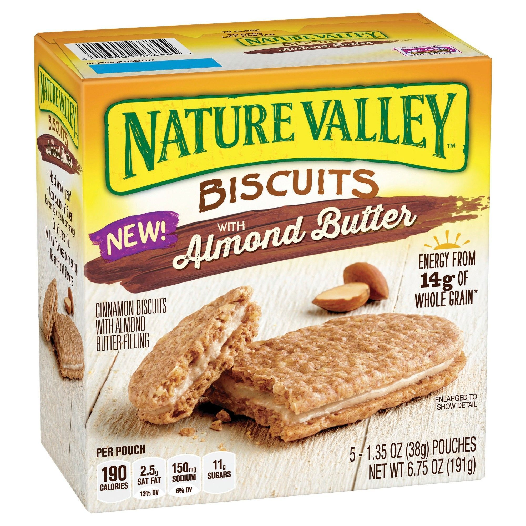 Nature Valley Almond Butter Biscuits 5ct Peanut Butter Biscuits Almond Butter Breakfast Biscuits