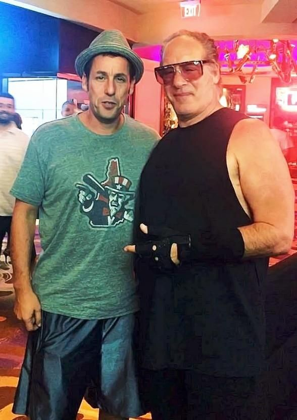 Adam Sandler At Andrew Dice Clay S Show At Vinyl Inside Hard Rock