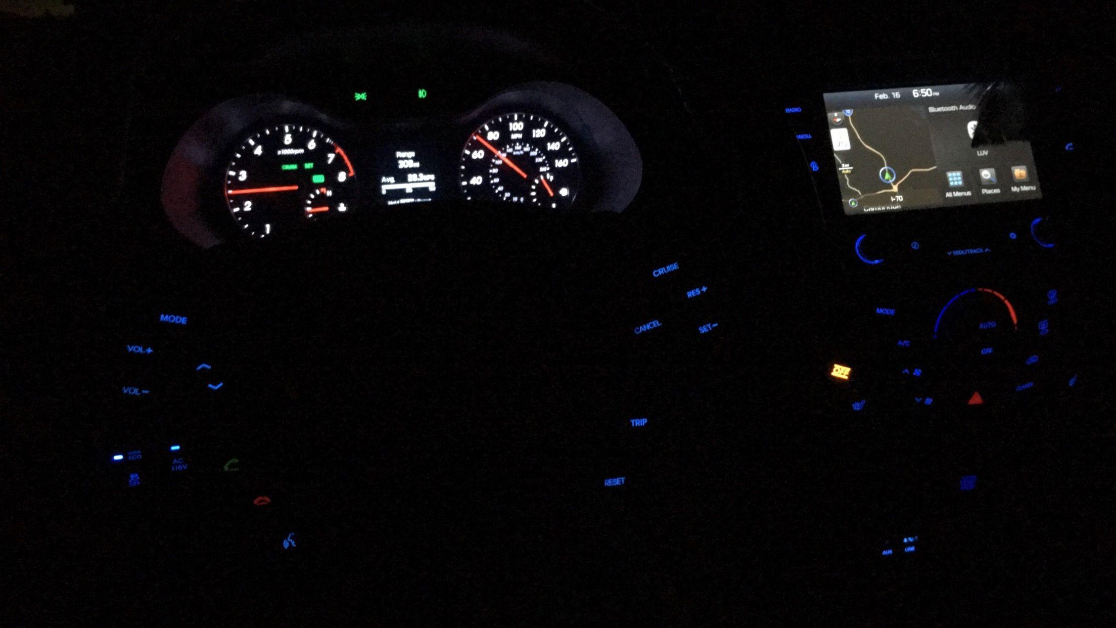 Full Look At My Dash Lights Veloster Turbo Hyundai