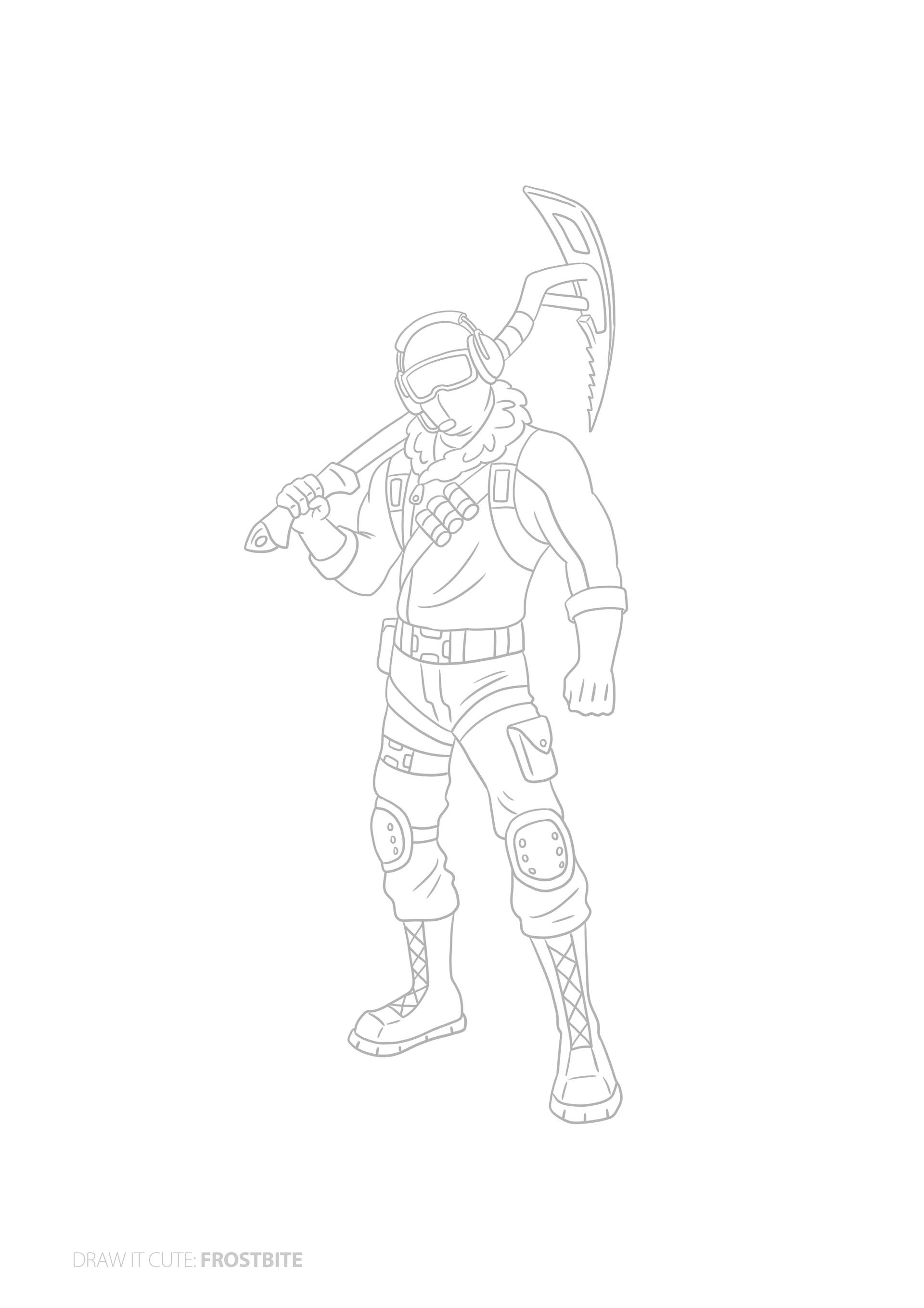 Interesting Guides Fortnite Frostbite Skin How To Draw Child S Chicken Trooper Doodle Gets Made Into Drawings Drawing Tutorial Illustration Character Design