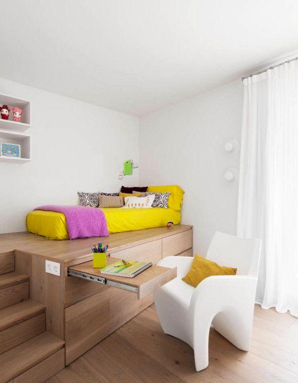 Tolle Kinderzimmer Ideen tolle kinderzimmer holz weiß sofa gelb bettwäsche wohnen