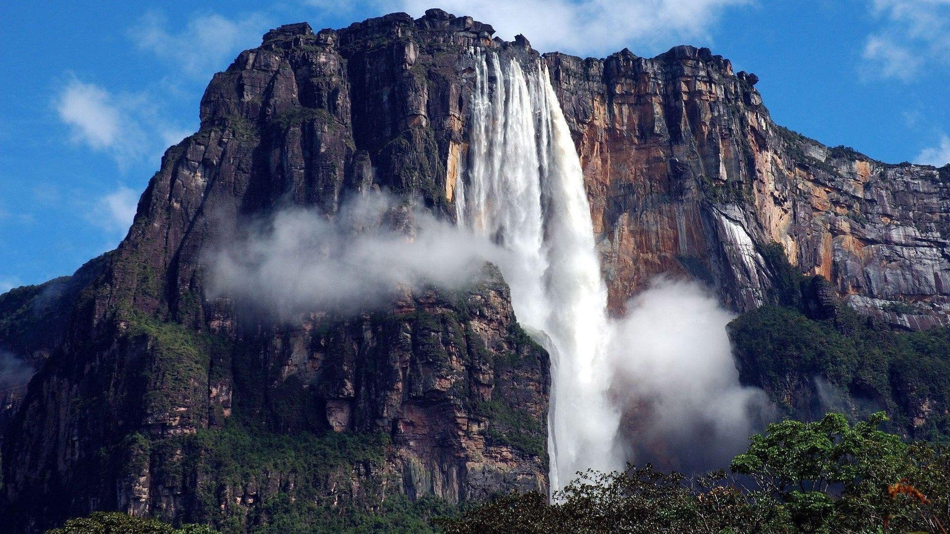 Cool #Mountain #Waterfall Windows 8 Wallpaper
