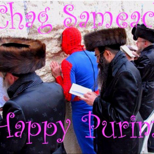 Chag Sameach Happy Purim Purim Happy Purim Spiderman