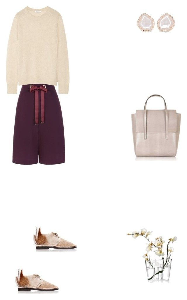 """""""Grace"""" by zoechengrace on Polyvore featuring Pinko, Equipment, Brother Vellies, India Mimi, iittala and Kimberly McDonald"""