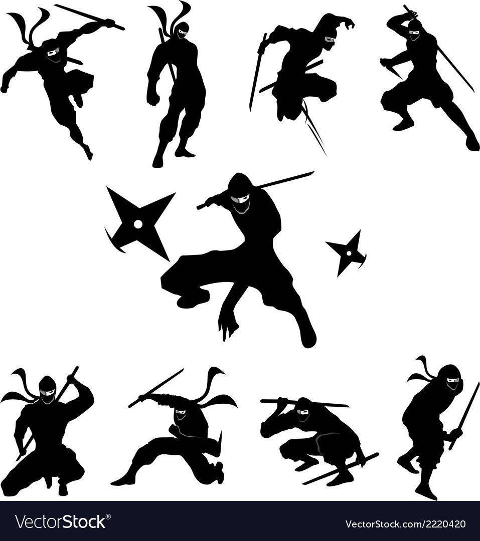 Ninja Shadow Siluate Silhouette Royalty Free Vector Image Spon Siluate Silhouette Ninja Shadow Ad Ninja Shadow Warriors Illustration Ninja Art
