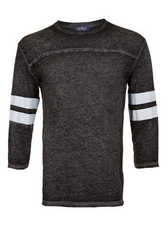 a620bf1a Grey Burnout Varsity Stripe Long Sleeve T-Shirt | SHOP | Fashion ...
