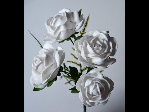 Jak Zrobic Roze Z Pianki Foamiran Roza Z Foamiranu Video Tutorial Obiels02 Paper Flower Video Flower Video Paper Roses