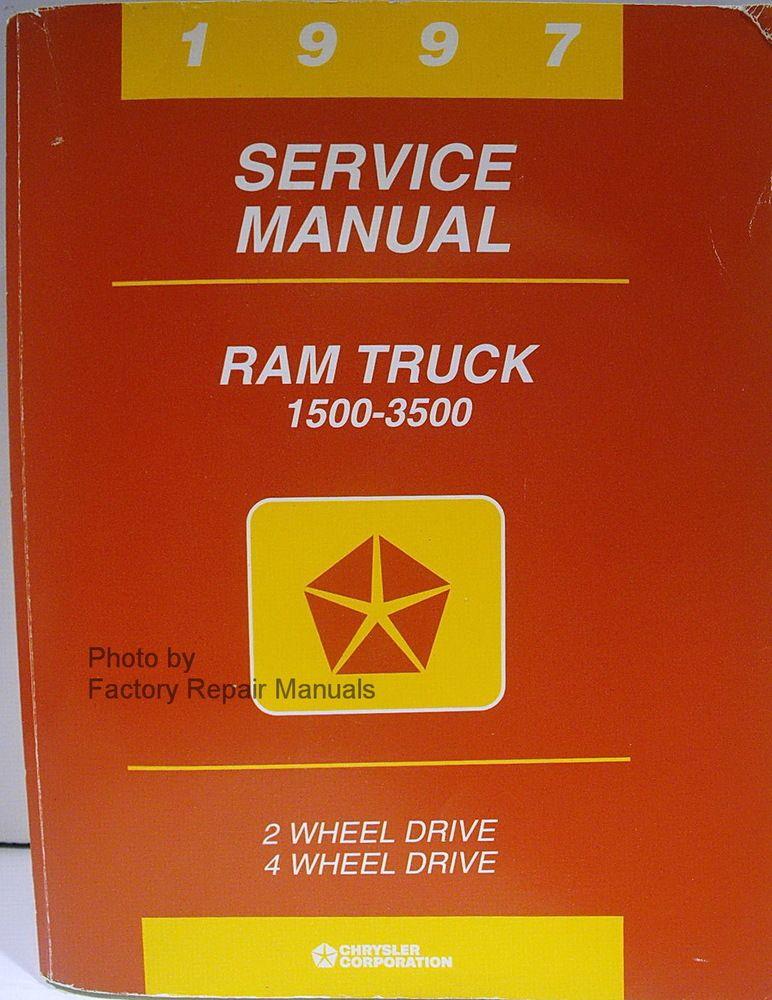 1997 Dodge Ram Truck Factory Service Manual 1500 2500 3500 Original Shop Repair