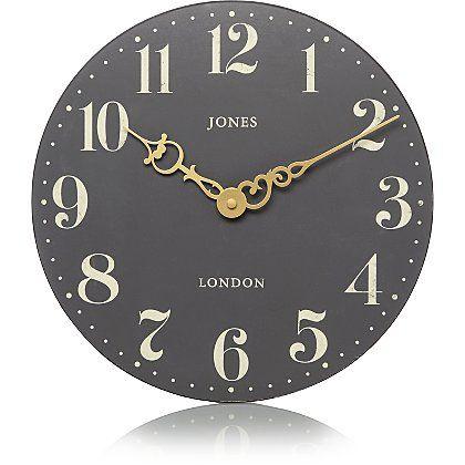 Jones Hepburn Clock Grey Home Garden George Clock George Home Classic Interior